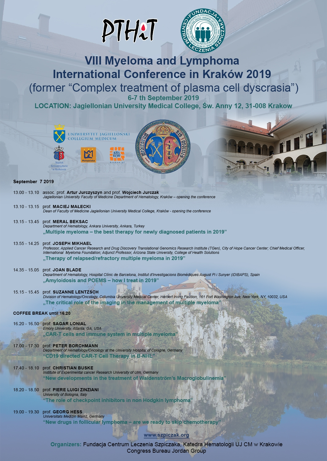 VIII Myeloma and Lymphoma International Conference in Kraków 2019